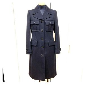 Louis Vuitton navy blue long coat